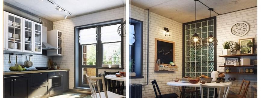 การจัดห้องครัวสไตล์ลอฟท์ (Loft Style)