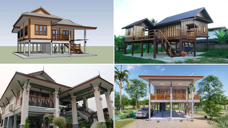 แบบบ้านใต้ถุนสูงทรงไทย